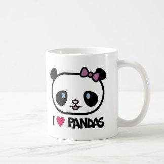 I Love Pandas Basic White Mug