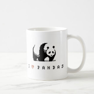 I Love Pandas Pixel Art Mug