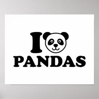 I love Pandas Poster