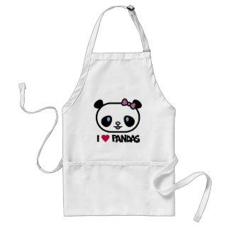 I Love Pandas Standard Apron