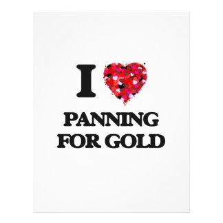 I love Panning For Gold 21.5 Cm X 28 Cm Flyer