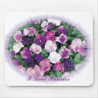 I Love Pansies Mouse Pad