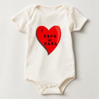 I Love Papa and Nana Baby Bodysuit