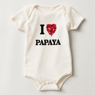 I Love Papaya Baby Bodysuits