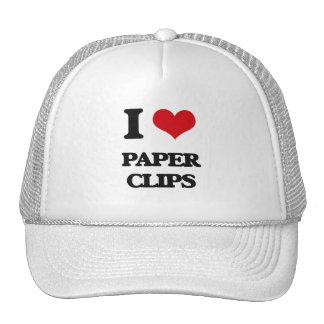 I Love Paper Clips Trucker Hat