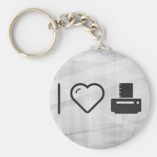 I Love Paper Printers Basic Round Button Key Ring
