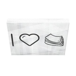 I Love Paper Towels Stretched Canvas Print