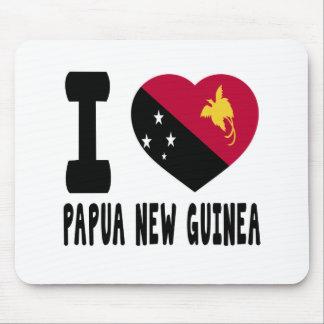 I Love Papua New Guinea Mouse Pad