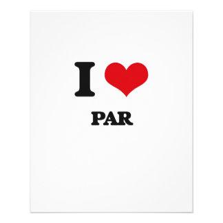 I Love Par 11.5 Cm X 14 Cm Flyer