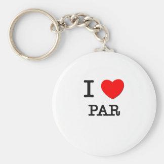 I Love Par Keychain