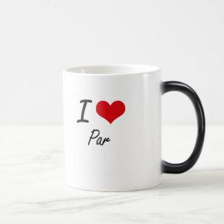 I Love Par Morphing Mug