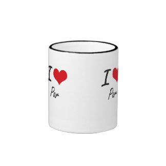 I Love Par Ringer Mug
