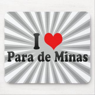 I Love Para de Minas Brazil Mousepads