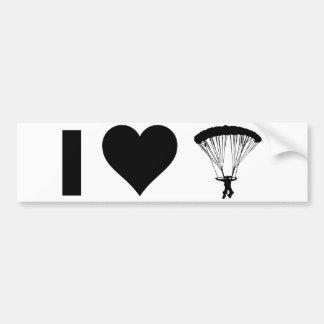 I Love Parachuting Bumper Sticker