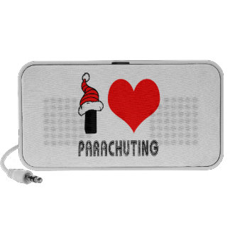 I Love Parachuting Design Laptop Speakers