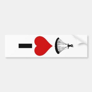I Love Parachuting (Vertical) Bumper Sticker