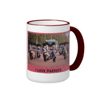 I love parades ringer mug