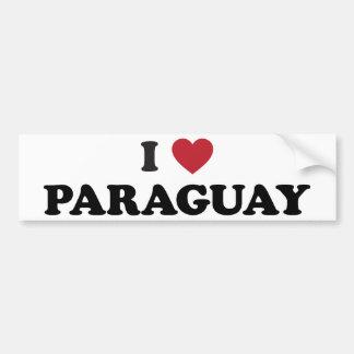 I Love Paraguay Bumper Sticker