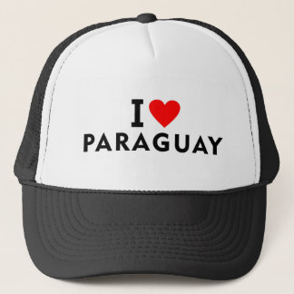 I love Paraguay country like heart travel tourism Trucker Hat