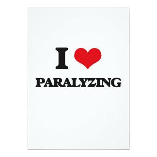 """I Love Paralyzing 5"""" X 7"""" Invitation Card"""