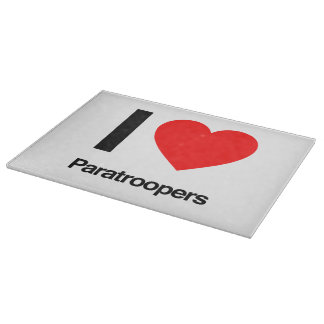 i love paratroopers cutting boards