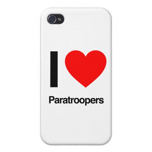 i love paratroopers iPhone 4/4S cover