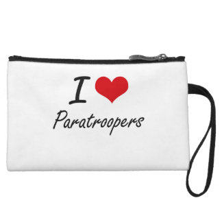 I Love Paratroopers Wristlet Purses