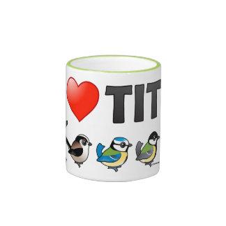 I Love Paridae EU Ringer Coffee Mug