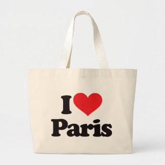 I Love Paris Tote Bags