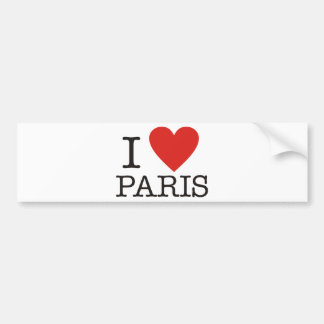 I love Paris Bumper Sticker