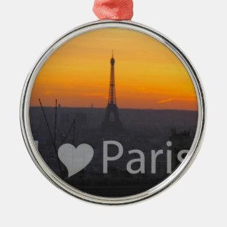 I Love Paris Christmas Ornament
