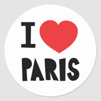 I love Paris Classic Round Sticker