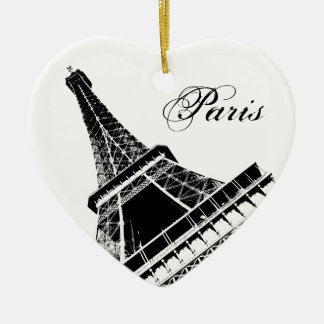 I Love Paris Eiffel Tower Christmas Ornament