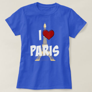 I Love Paris, Eiffel Tower T-Shirt