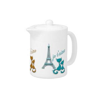 I Love Paris Elegant Eiffel Tower And Cats Design