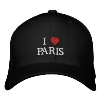 I Love Paris Embroidered Hat