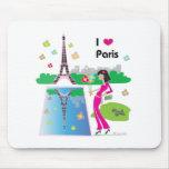 I love Paris, France Mouse Pad