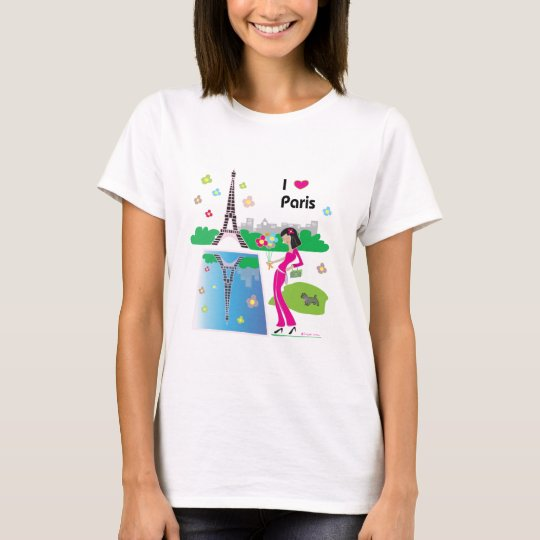 I love Paris, France T-Shirt