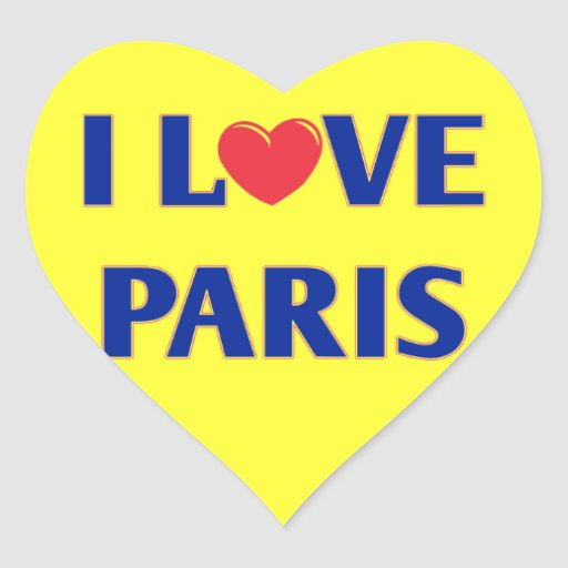 I love Paris, French flag colors Stickers