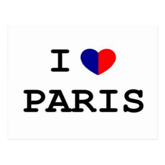 I Love Paris Heart Postcard