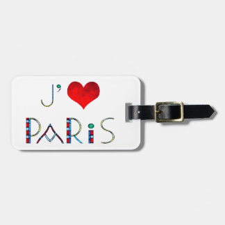 I Love Paris in Notre Dame Stained Glass Luggage Tag