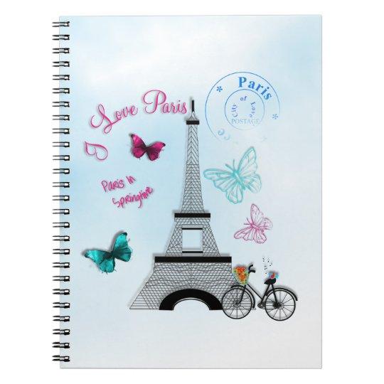 I Love Paris In Springtime Notebooks