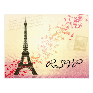 I love Paris in Springtime - RSVP Card Postcard