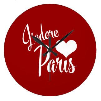 I Love Paris - J'adore Paris! Clocks