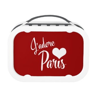 I Love Paris - J'adore Paris! Lunch Boxes