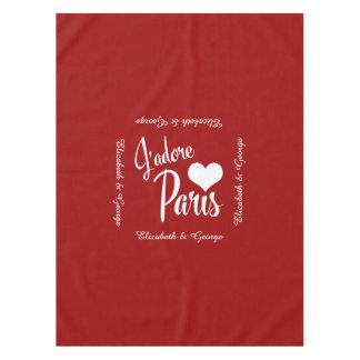 I Love Paris - J'adore Paris! Tablecloth