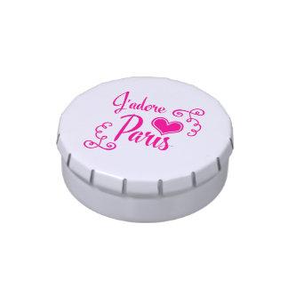 I Love Paris - J'adore Paris Vintage Style Candy Tins