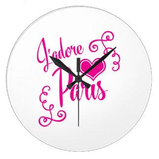 I Love Paris - J'adore Paris Vintage Style Clocks