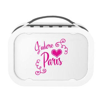 I Love Paris - J'adore Paris Vintage Style Lunchbox