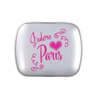 I Love Paris - J'adore Paris Vintage Style Jelly Belly Tins